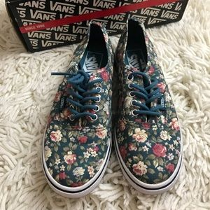 ... RARE Vans authentic lo pro floral hydro 6.5 women ... 0bad85c19